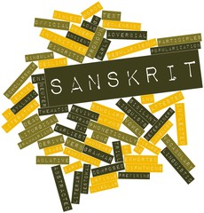 Word cloud for Sanskrit