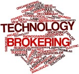 Word cloud for Technology brokering poster