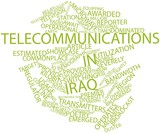 Word cloud for Telecommunications in Iraq