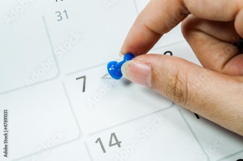 Leinwandbild Motiv Calendar