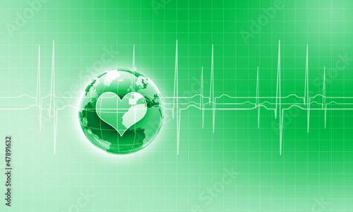Heart beat illustration