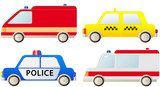 specialized transport - police, ambulance, fire truck, taxi