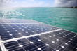 Closeup of solar panels set in a sailboat