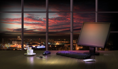 Office at night