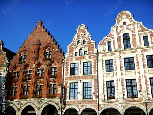 Papiers peints Europe du Nord Maisons urbaines des Flandes