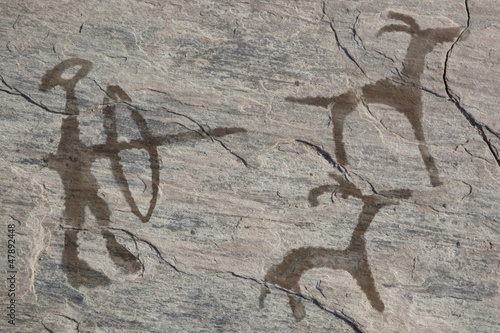 Old ancient petroglyph