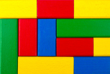 Square shape colorful background in red, yellow, green, and blue