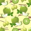 green fruits seamless