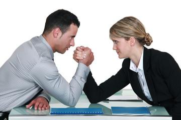 Executive arm wrestling.
