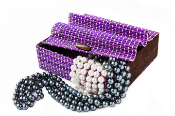 Violet casket with pearls