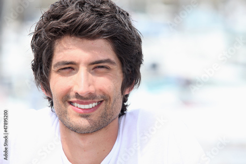 Handsome smiling man