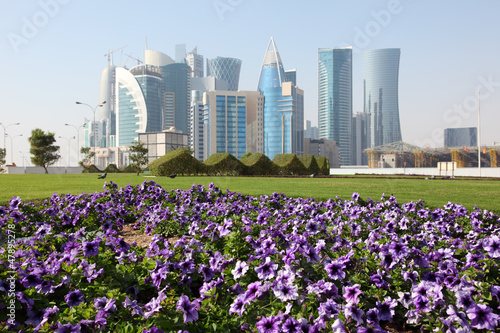 Flowers in Doha downtown, Qatar, Middle East