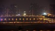 Jiangwan bridge and Haiyin Bridge stand against city landscape