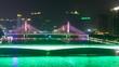 Tourist ships float under Jiangwan bridge and Haiyin Bridge