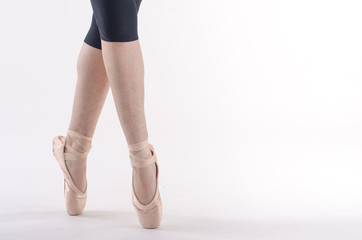 Ballerina in punta di piedi