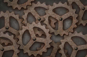 Distressed interlocking gears