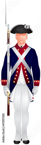 Soldier in US Army Old Guard uniform