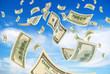 Money in sky.