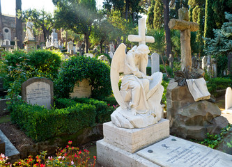 Non-Catholic cemetery in Rome, Italy