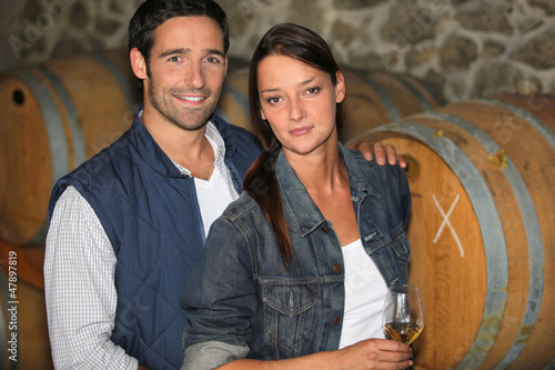 Couple of winemakers