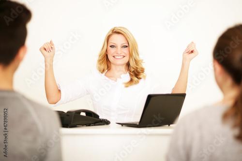 Kundendienst-Mitarbeiterin