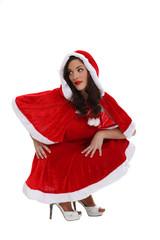 woman in a Santa Claus suit