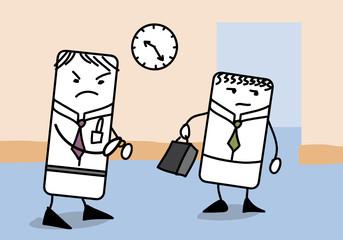 En retard au travail