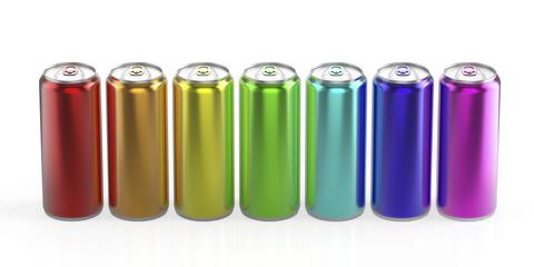 Rainbow cans
