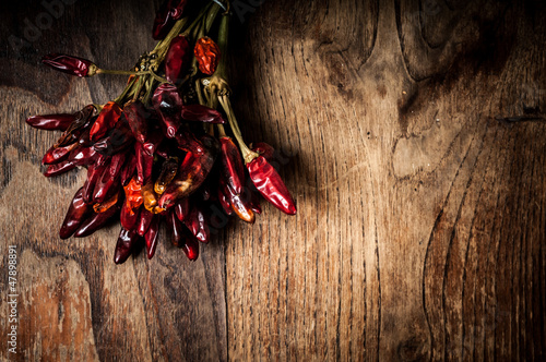 dried hot red chilies