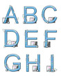 Alphabet Mod Elements A to I