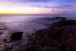 Sonnenaufgang an der felsigen Küste, Fuerteventura