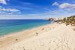 canvas print picture - Strand und Altstadt, Morro Jable, Fuerteventura