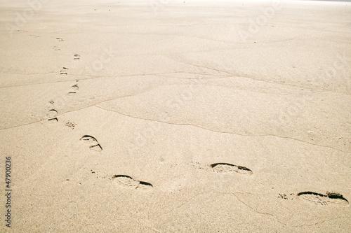 浜辺の足跡