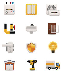 House renovation icon set. Part 2