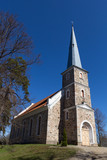Mazirbe Lutheran church, Latvia poster
