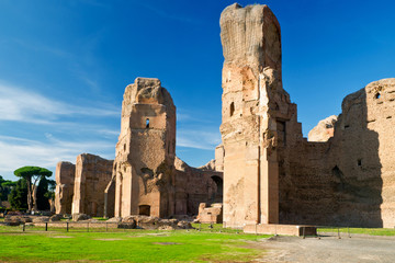 The ruins of the Baths of Caracalla in Rome