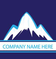 Mountains in navy color logo vector