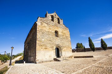 Romanesque church of Santiago in Villafranca del Bierzo, Spain