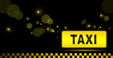 Fototapety taxi night city background