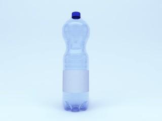 Bottiglia d'acqua mokoup etichetta idratazione