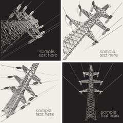Power Transmission Line, vector illustration