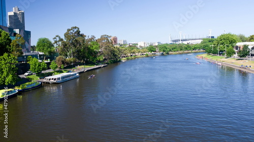 Yarra River Activity, Melbourne, Time Lapse,