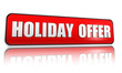 holiday offer red banner