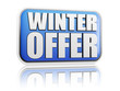 winter offer blue banner