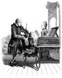 Child Mozart with Father & Sister - 18th century