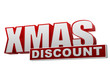 xmas discount red white banner - letters and block