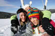 Girls in ski holidays