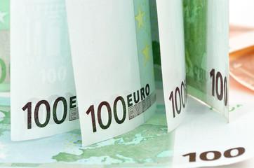 Background image of Euro banknotes