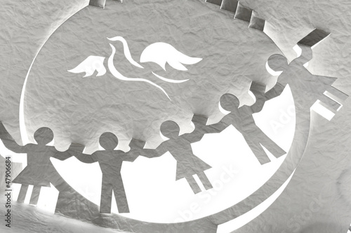 paper cut for peace concept