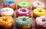 Fototapety baked donuts